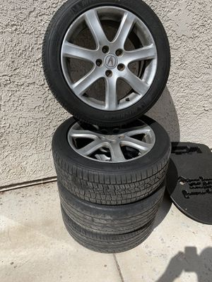 17 inch rims and tires 114.3 5 lug for Sale in Las Vegas, NV