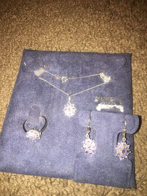 Sterling Silver Tanzanite Set Ring Size 8 1/2 for Sale in Indianapolis, IN