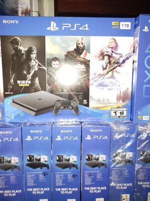 PS4 SLIM 1TB (1000GB) 3 FREE GAMES 🎁 BRAND NEW 🎁 FACTORY SEALED 🎁 NEVER OPENED 🎁WARRANTY WITH SONY ⚙⏳💯👍 for Sale in Phoenix, AZ