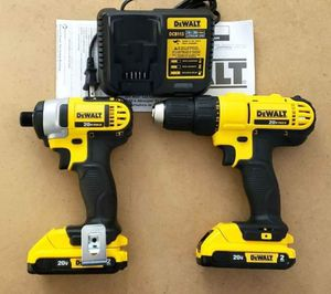 New Dewalt Kit Combo Compact and Impact Drill whit (2) Batteries Dewalt 2.0AH and Charger FIRM PRIC for Sale in Woodbridge, VA