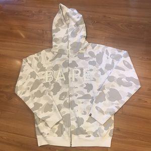 Bape swarovski white grey camo full zip hoodie for Sale in Millbrae, CA