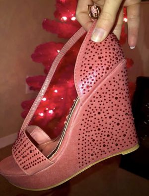057f273222 Sz 7 - Brand New Shimmer Fuchsia Rhinestone Wedges for Sale in Colorado  Springs