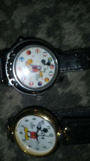 2 Vintage mickey mouse watches and disney pins for Sale in Columbus, OH