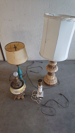 Vintage Lamps 70's for Sale in Pajaro, CA