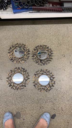 Cute mirrors for wall hanging (set of 4) for Sale in Burlingame, CA