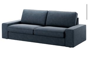 Blue fabric couch for Sale in Baltimore, MD