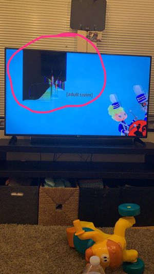 55 inch LG TV with crack but works fine for Sale in Chicago, IL