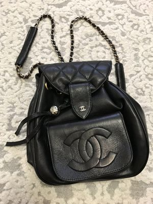 Black CC lamb leather backpack for Sale in Brooklyn, NY