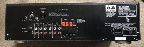 Technics SA EX140 Class H AV Control Stereo Receiver Tested