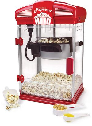 West Bend 82515 Hot Oil Theater Style Popcorn Machine, 4-Ounce, Red (Brand new In the sealed package for Sale in Los Angeles, CA