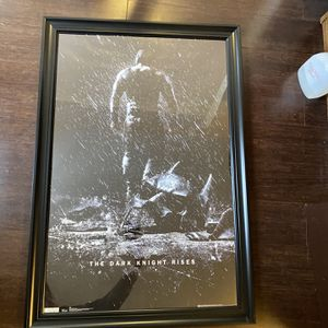 "The Dark Knight Rises Large Framed Movie Poster 37""x 25"" for Sale in Canton, MI"