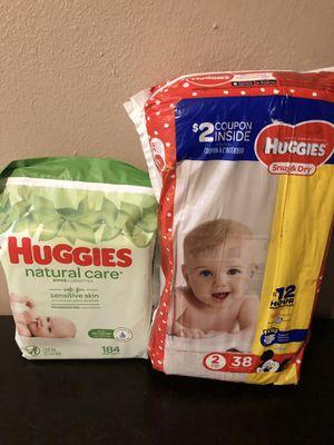 HUGGIES PAMPERS & WIPES !!! Pañales y toallitas for Sale in Pasadena, TX