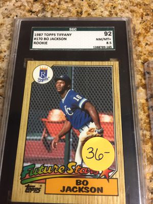 Baseball cards, Bo Jackson graded Tiffany & Rookie card $15 for Sale in West Carson, CA
