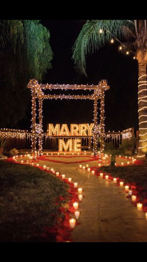 MARRY ME Marquee 2ft EACH LETTER LIT UP SIGN for Sale in Glendale, CA