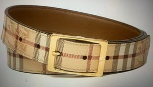 Brand new Burberry Plaid Leather Belt size 95 (36-38) for Sale in Seattle, WA