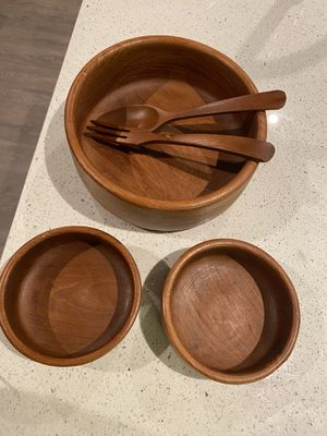 Wooden salad bowl set for Sale in Plano, TX