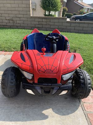 Dynacraft Web Rider 12 Volt Dune Buggy Spider-Man Ride On Power Wheel (Rear Wheel is Cracked) for Sale in San Dimas, CA