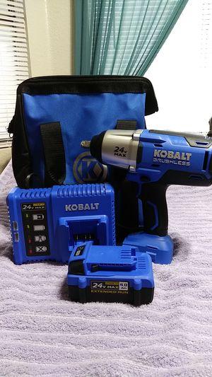 """Kobalt 24v max 1/2"""" brushless impact wrench kit for Sale in Las Vegas, NV"""
