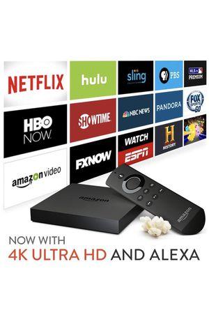 Amazon fire TV 4k, Alexa built in for Sale in Seattle, WA