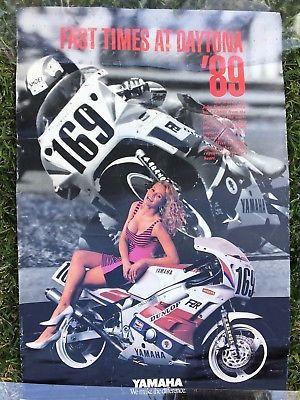 Motorcycle Poster Vintage Fast Times At Daytona Yamaha FZR Girl for Sale in San Antonio, TX