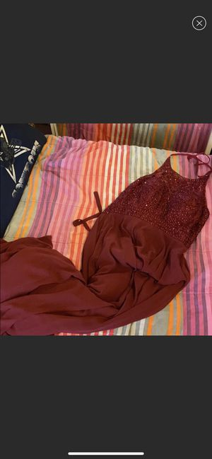 Long burgundy dress (prom, bridesmaid, godmother etc.) for Sale in El Monte, CA