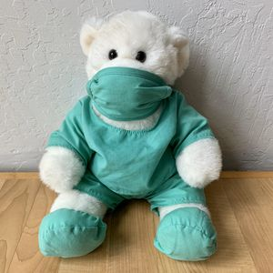 Build-A-Bear Workshop Plush White Teddy Bear Stuffed Animal 1st Edition Plush Wearing Nurse / Doctor Scrubs for Sale in Elizabethtown, PA