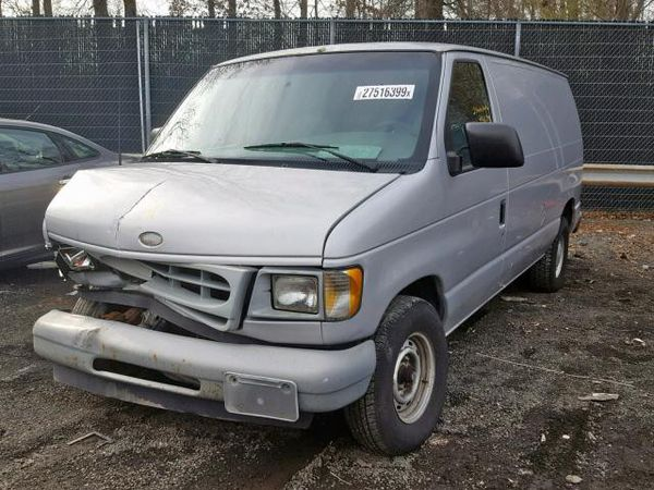 2002 FORD ECONOLINE E150 VAN 4.2L B60169 Parts only. U pull it yard cash only.
