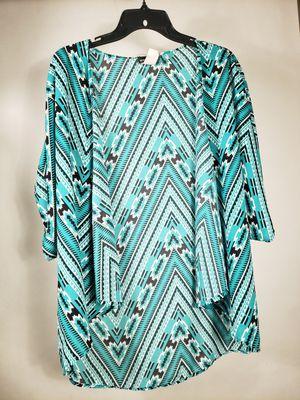WET SEAL. Women. Geometric pattern. 3/4 sleeve. Green& black& white. Kimono. One size . for Sale in GLMN HOT SPGS, CA