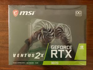MSI GeForce RTX 3070 Ventus 2X OC (New-Sealed) for Sale in Lake Mary, FL