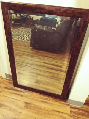 Beveled/Framed Hanging Wall Mirror for Sale in Tacoma, WA