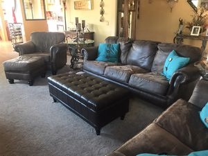 Couch, loveseat, chair with matching ottoman & storage ottoman for Sale in East Wenatchee, WA