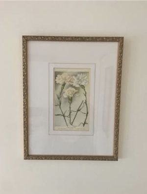 Three antique 19th century floral prints for Sale in Babylon, NY