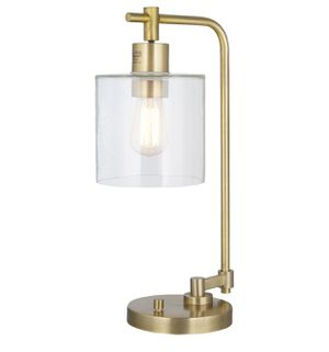 Hudson Industrial Table Lamp Antique Brass for Sale in Washington, DC