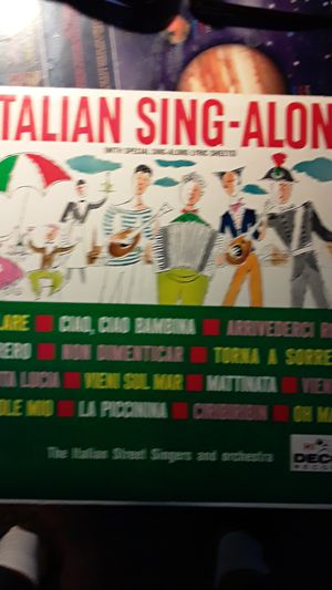 Italian sing along record for Sale in Hudson, FL
