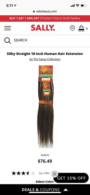 """*BRAND NEW* HUMAN HAIR 18"""" EXTENSIONS for Sale in Boston, MA"""