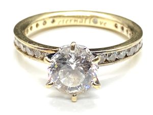 14k Solid Gold zirconia Nice Engagement Ring for Sale in Daly City, CA