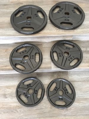 Wide grip weight plate set for Sale in Rancho Cucamonga, CA