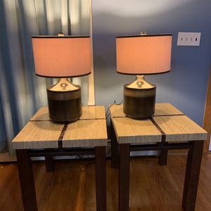 Two Tables And Two Lamps for Sale in Bowie, MD