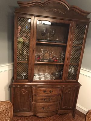 Antique Table, 5 Chairs & Hutch for Sale in Seattle, WA