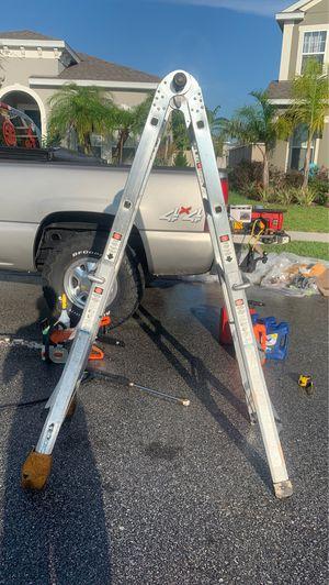 Ladder extension ladder folding ladder aluminum for Sale in Orlando, FL
