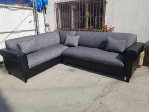 NEW 7X9FT HENNESSEY ZEBRA FABRIC COMBO SECTIONAL COUCHES for Sale in Corona, CA