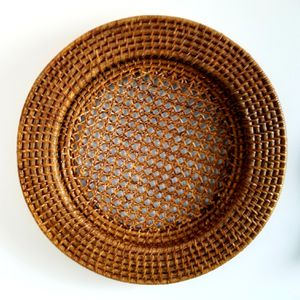 Large Wicker Basket Tray Plate Woven Natural Bohemian for Sale in Washington, DC