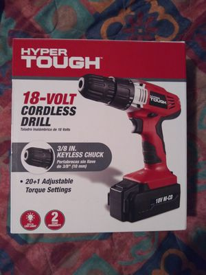 Hyper Tough 18 Volt Cordless Drill for Sale in Dallas, TX
