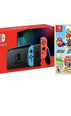 Nintendo Switch Neon Console And Super Mario 3D All-Stars Bundle for Sale in Brooklyn,  NY