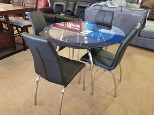 Glass Top Dining Table with four chairs for Sale in Phoenix, AZ