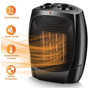 Space Heater - 1500W Electric Heater, Tip-Over & Overheat Protection for Home & Office, Adjustable Thermostat, Quiet & Portable Indoor Heater, Up to for Sale in Sunnyvale, CA