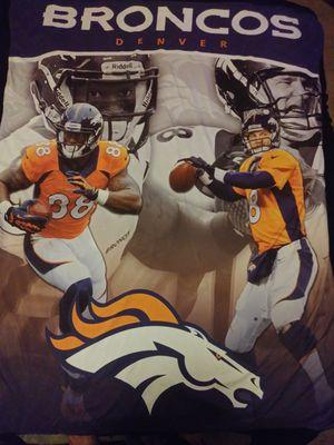 Denver Broncos throw blanket for Sale in Las Vegas, NV