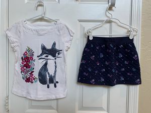 Gymboree, size 7, skirt outfit, girls clothes, Fox for Sale in Glendale, AZ