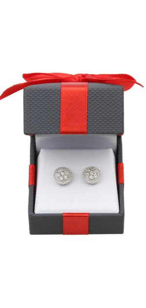 Finecrafted 1/10 CT TW diamond earrings sterling silver for Sale in Queens, NY