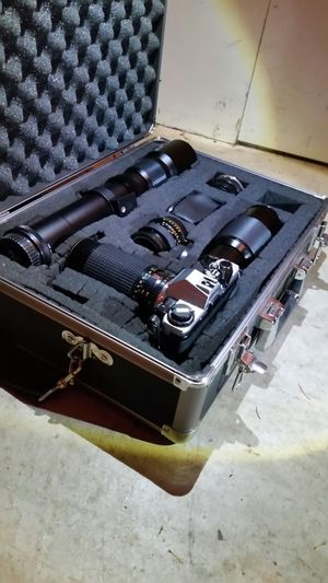 Olympus om10 Vintage Precision Camera (Film Required) W/ Complete Lens/Fixture Kit & Carrying Case for Sale in Hillsboro, OR